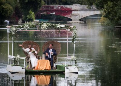 Le Clos du Loir - embarcation sur le Loir mariage