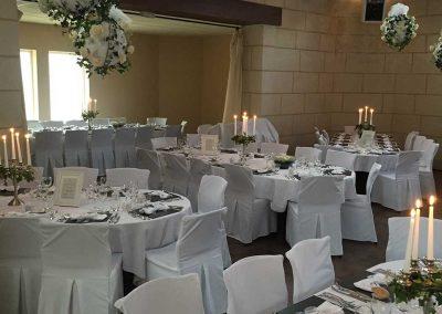 Décoration de salle pour mariage romantique