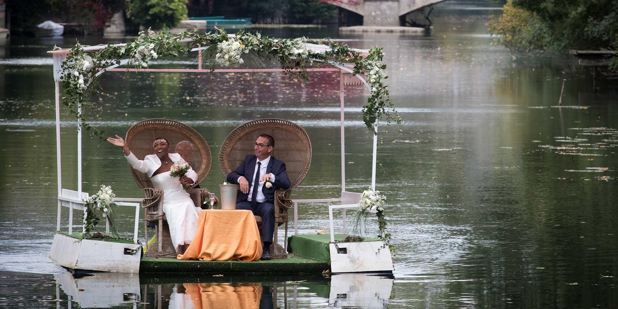 Embarcation fluviale mariage au Clos du Loir Montoire