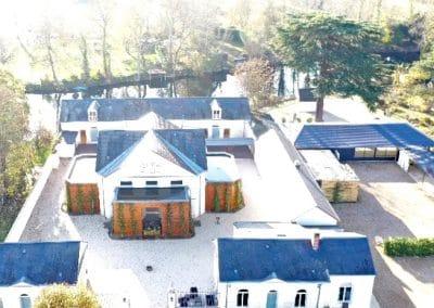Vue aérienne du Clos du Loir